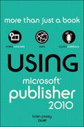 Book Cover: Using Microsoft Publisher 2010 (Pearson, 2010)