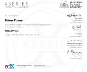 XSeries Certificate in Astrophysics