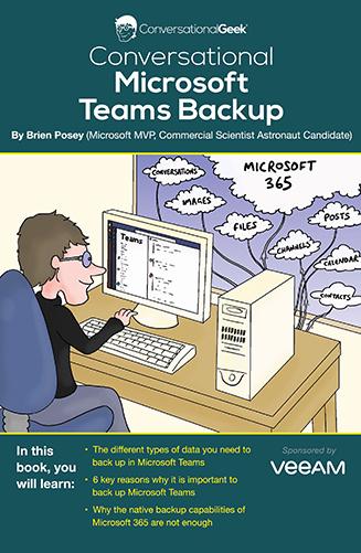 Book Cover: Conversational Microsoft Teams Backup