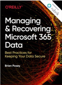 Book Cover: Managing and Recovering Microsoft 365 Data